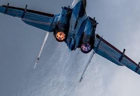 پرتاپ شدن افراد توسط جنگنده سوخو ۲۷ اوکراین + ویدئو