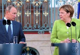 گفتگوی تلفنی پوتین و مرکل درباره سوریه