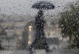 بارش باران در شهرهای مرزی ایران و عراق