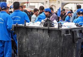 (تصاویر) سختی کار پاکبانان در مرز مهران