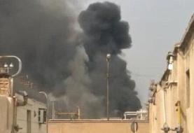 (ویدئو) آتش سوزی در پالایشگاه آبادان