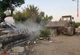 آزادسازی اراضی زراعی با تخریب حدود ۱۰۰ ساخت و ساز غیرمجاز