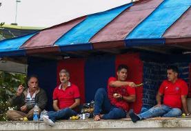 تماشای فوتبال از جایگاه VIP استادیوم وطنی به صرف خیار!/عکس