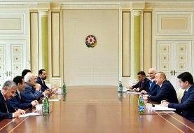 ظریف با الهام علی اف دیدار و گفتگو کرد