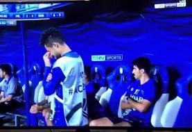 تصویری جالب از نیمکت الهلال در دقیقه ۹۶ بازی با السد