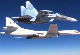 صحنه های حیرت انگیز از سوخت گیری بمب افکن روسی در هوا + ویدئو