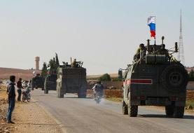 Russian forces patrol Syrian-Turkish border