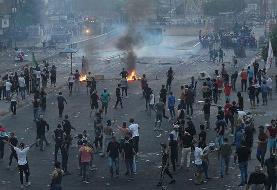 به آتش کشیدن دوباره کنسولگری ایران در نجف