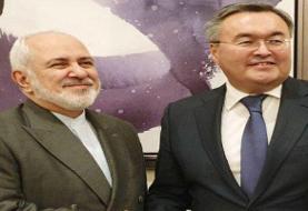 ظریف با همتای قزاقستانی خود دیدار و گفتگو کرد