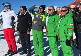 پیست اسکی توچال با حضور رئیس کمیته ملی المپیک افتتاح شد