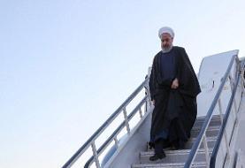 سخنرانی رئیس جمهور در بدو ورود به فرودگاه رفسنجان