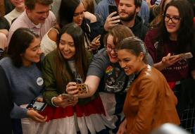 At an Iowa rally, progressive voters already talk about an Ocasio-Cortez presidency