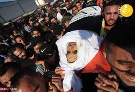 (تصاویر) تشییع پیکر فرمانده ارشد مقاومت فلسطین
