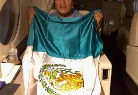 (تصویر) مورالس پرچم مکزیک را بدست گرفت