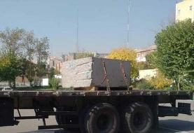 کشف سنگ تریاک یک تنی در راه تهران +عکس