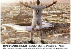 زلاتان از MLS و لسآنجلس گلکسی خداحافظی کرد/عکس
