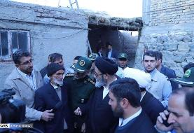تصویری از حضور امام جمعه تبریز در مناطق زلزلهزده آذربایجان