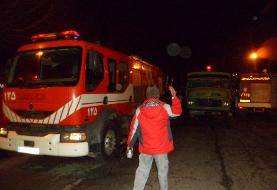 ۳ مصدوم در تصادف تریلی با خودروی آتشنشانی