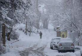 برف و کولاک جاده کیاسر - سمنان را مسدود کرد