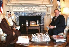 پامپئو: با عربستان برای مقابله با ایران تلاش میکنیم