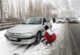 امدادرسانی به ۲۵ خانوار گرفتار در برف و کولاک جاده های گلستان