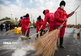 تکمیل استقرار مخازن شن و نمک در تهران تا پایان امروز/ ادامه روند پاکسازی معابر برفی
