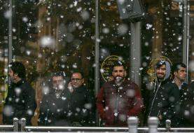 (تصاویر) اختلال در حرکت اتوبوسهای تهران به دلیل بارش برف