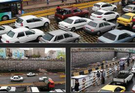 تصاویر   بستن بزرگراه امام علی تهران در اعتراض به گرانی بنزین