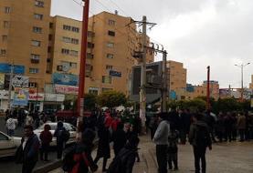گزارشی از اعتراضات بنزینی در برخی شهرهای استان تهران