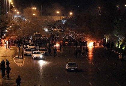 (تصاویر) آتش زدن مدرسه علمیه خواهران در فردیس کرج