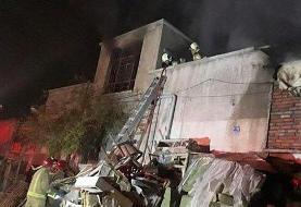 آتش سوزی کارگاه تولیدی مبلمان در علی آباد پاکدانه