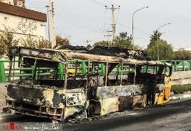 (تصاویر) تخریب اموال عمومی در سنندج و اصفهان