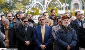 تشییع پیکر زنده یاد «رضا عبدی» / گزارش تصویری