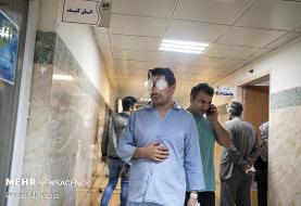 عکس/ مجروحان حوادث اخیر تهران در بیمارستان ها