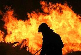 فروشگاه لوازم الکتریکی در لاله زار در آتش سوخت
