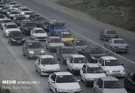 ترافیک سنگین در محور هراز و چالوس/ محورهای شمالی فاقد مداخلات جوی