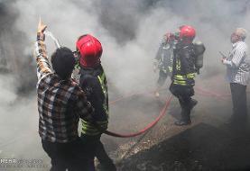 بازار اروند خرمشهر در آتش سوخت