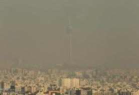 تداوم شرایط ناسالم هوای پایتخت تا روز سهشنبه