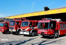 اعزام خودروهای آتش نشانی از اهواز برای مهار آتش کنزالمال