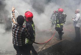 آتش در بازار ته لنجی خرمشهر