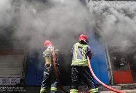 آتش سوزی بازار کنزالمال خرمشهر خاموش شد