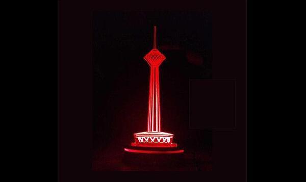 برج میلاد قرمز میشود