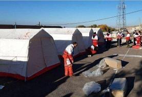 اسکان اضطراری در مناطق آسیب دیده از زلزله درشهرستان میانه آغاز شد