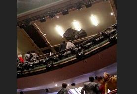 حادثه وحشتناک / سقف تئاتر فروریخت، تماشاگران گریختند