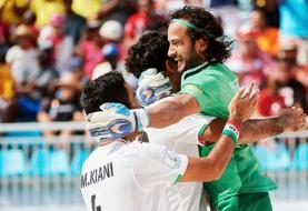 راهیابی ایران به فینال مسابقات فوتبال ساحلی بین قاره ای