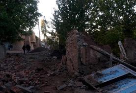 (تصاویر) خسارات زلزله در روستاهای ورزقان و ورنکش
