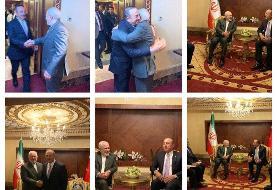 دیدار ظریف و وزیر خارجه ترکیه/عکس