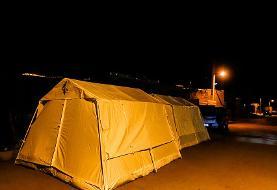 (تصاویر) امدادرسانی به روستای ورنکش در اولین شب پس از زلزله