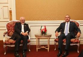 (تصویر) دیدار ظریف و وزیر خارجه ترکیه