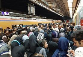 ازدحام جمعیت در خط یک متروی پایتخت طبیعی است
